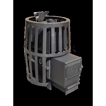 Банная печь чугунная Воевода 20 ДТ-3 (сетка, закрытая каменка)
