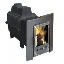 Банная печь-камин чугунная Воевода 20 (без сетки под обкладку)