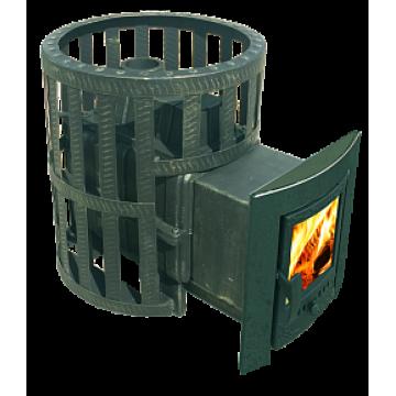 Банная печь-камин чугунная Воевода 20 (сетка)