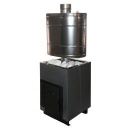 Печь банная Анютка мини графит/антрацит (укороч. топливн. канал) (до 10 м3)