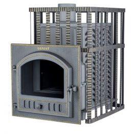 Банная печь чугунная Гефест GFS-ЗК в сетке 25 (П)