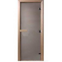 Дверь стекло  Сатин Матовая, 1900х700мм (8мм, 3 петли 716) (Магнит) (ХВОЯ)